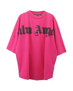 Palm Angels FRONT LOGO OVER TEE / 2810 : FUXIA BLACK