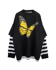 Palm Angels BTRFLY LAYERD L/S TEE / 1088 : BLACK MULTICOLOR