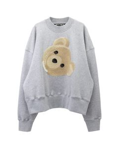 Palm Angels BIG BEAR CREWNECK / 0788 : MELANGE GREY MULTI