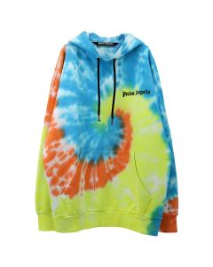 Palm Angels TIE DYE NEW BASIC HOODY / 0188 : WHITE MULTICOLOR
