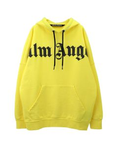 Palm Angels FRONT OVER LOGO HOODY / 6010 : YELLOW BLACK