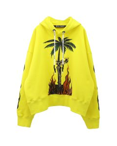 Palm Angels BURNING SKELETON HOODY / 6088 : YELLOW MULTICOLOR