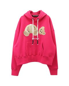 Palm Angels PALM ANGELS BEAR HOODY / 2888 : FUXIA MULTICOLOR