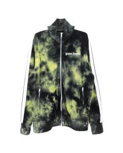 Palm Angels TIE DYE CHENILLE TRACK JKT / 1060 : BLACK YELLOW