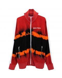 Palm Angels TIE DYE CHENILLE TRACK JKT / 2010 : RED BLACK