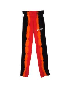 Palm Angels TIE DYE CHENILLE TRACK PANTS / 2010 : RED BLACK