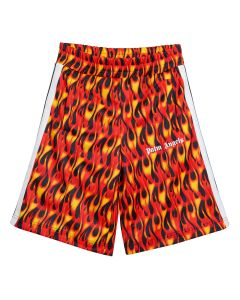 Palm Angels BURNING TRACK SHORTS / 1088 : BLACK MULTICOLOR
