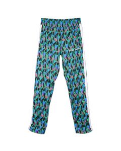Palm Angels BURNING TRACK PANTS / 1031 : BLK LIGHT BLUE