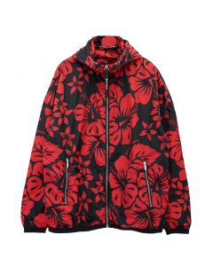 Palm Angels HAWAIIAN WINDBREAKER / 1020 : BLACK RED