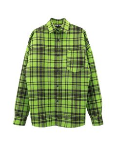 Palm Angels LOGO OVERSHIRT / 4001 : GREEN WHITE