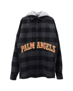 Palm Angels COLLEGE LOGO OVERSHIRT / 8860 : MULTICOLOR YELLOW