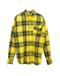Palm Angels FIRESTARTER OVERSHIRT / 6001 : YELLOW WHITE