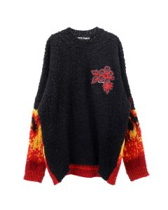 Palm Angels BURNING CASENTINO JUMPER / 1088 : BLACK MULTICOLOR