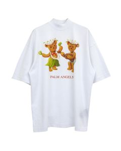 Palm Angels DANCING BEARS OVER TEE / 0160 : WHITE BROWN