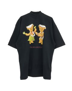 Palm Angels DANCING BEARS OVER TEE / 1060 : BLACK BROWN