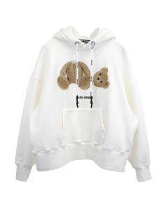 Palm Angels PALM ANGELS BEAR OVER HOODY / 0360 : OFF WHITE BROWN