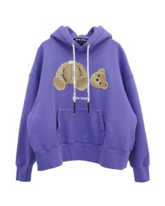 Palm Angels PALM ANGELS BEAR OVER HOODY / 3760 : PURPLE BROWN