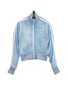 Palm Angels CHENILLE TRACK JKT / 4001 : LIGHT BLUE WHITE