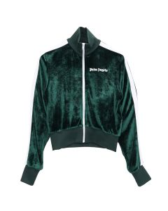 Palm Angels CHENILLE TRACK JKT / 5701 : FOREST GREEN WHITE