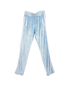 Palm Angels CHENILLE TRACK PANTS / 4001 : LIGHT BLUE WHITE