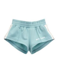 Palm Angels TRACK HOT SHORTS / 5001 : AQUAMARINE WHITE