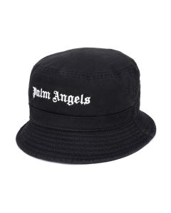 Palm Angels CLASSIC LOGO BUCKET HAT / 1001 : BLACK WHITE