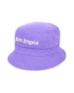 Palm Angels CLASSIC LOGO BUCKET HAT / 3701 : PURPLE WHITE