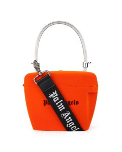 Palm Angels VELVET STRAP PADLOCK BAG / 2010 : ORANGE BLACK