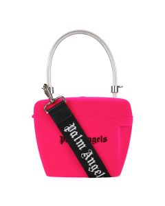 Palm Angels VELVET STRAP PADLOCK BAG / 3210 : FUCHSIA BLACK