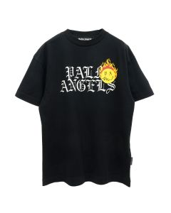 Palm Angels BURNING HEAD LOGO TEE / 1018 : BLACK YELLOW