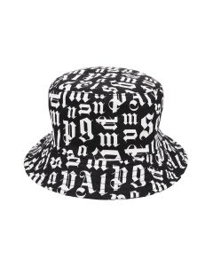 Palm Angels BROKEN MONOGRAM BUCKET HAT / 1000 : BLACK NO COLOR