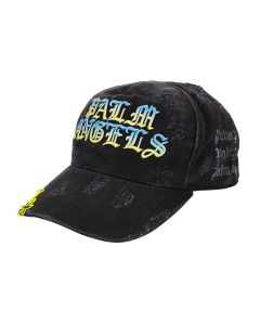 Palm Angels HUE GOTHIC LOGO CAP / 1084 : BLACK MULTICOLOR