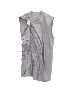 POST ARCHIVE FACTION 3.0 SLEEVELESS LEFT / LIGHT GREY