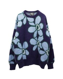 P.A.M. DR.OCTAGON KNITTED JUMPER / BLUE FLOWERS