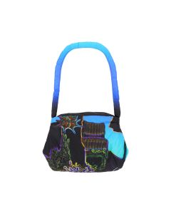 PAULA CANOVAS DEL VAS PRINTED APPAREL BAG / BLUE PRINT