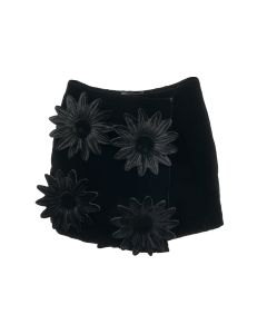 PAULA CANOVAS DEL VAS PADDED MINI SKIRT / BLACK