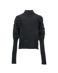 PAULA CANOVAS DEL VAS KNIT TOP / BLACK