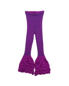 PAULA CANOVAS DEL VAS KNIT TROUSERS / PURPLE