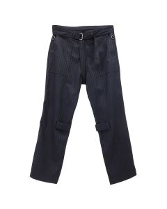PHINGERIN BONTAGE PANTS WOOL / A : NAVY STRIPE