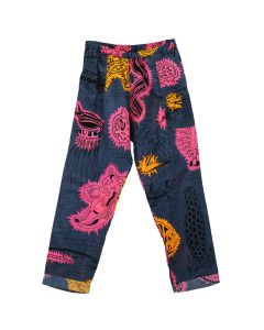 PHINGERIN NIGHT PANTS GAUZE TENTACLE / A : DEEP NAVY