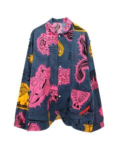 PHINGERIN NIGHT SHIRT GAUZE TENTACLE / A : DEEP NAVY