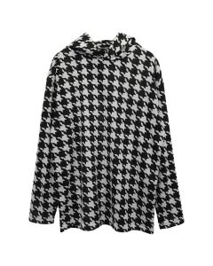 PHINGERIN BASE LAYER PARKA HOUNDTOOTH / A : BLACK