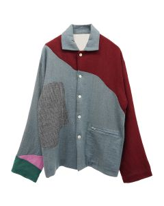 PHINGERIN PATCHED GAUZE SHIRT JKT / A : MULTI