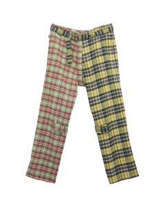 PHINGERIN BONTAGE PANTS PATCH / A : GREEN-YELLOW PLAID