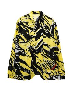 PHINGERIN NIGHT SHIRT GAUZE COMIC ZOOM / A : YELLOW