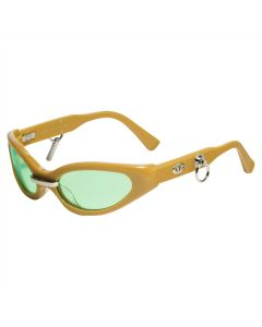 GENTLE MONSTER PEGGY / KHAKI (GREEN LENS)