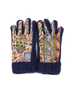 paria /FARZANEH IRANIAN PRINT FLEECE GLOVES / MULTI
