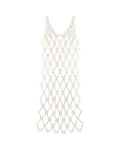 Paco Rabanne ROBE LONG DRESS / P711 : LIGHT GOLD