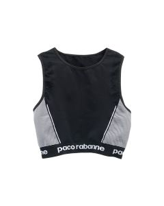 Paco Rabanne TOP CROPPED TOP / M002 : BLACK-WHITE