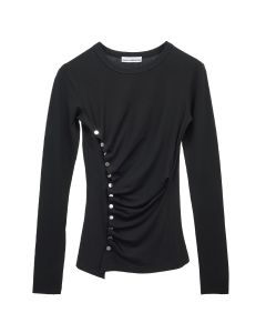 Paco Rabanne TOP TOP LONG SLEEVES / P001 : BLACK